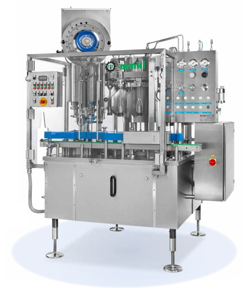 Markl Bavaria Filling machine with pre-evacuation and capper as a monoblock